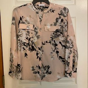 Calvin Klein floral print button down shirt